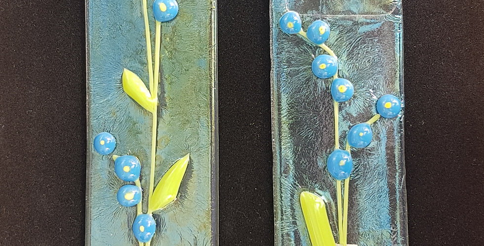 Forget Me Not Glass Panel