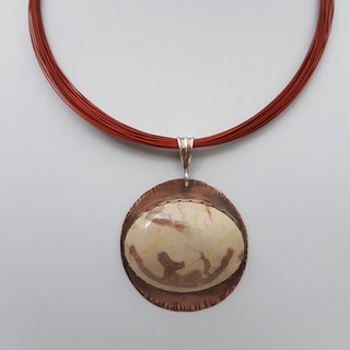 Aphrodite Marble on Copper Necklace