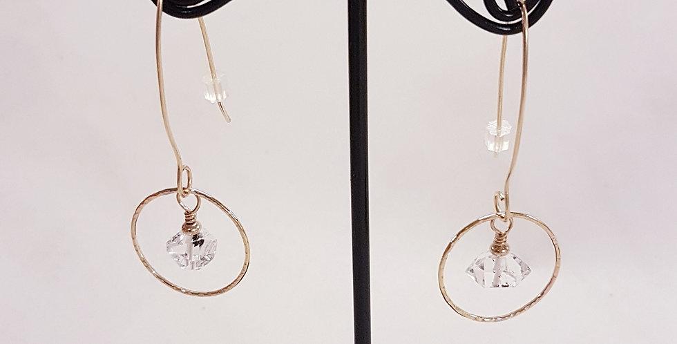 Herkimer 'Diamond' Gold Filled Earrings