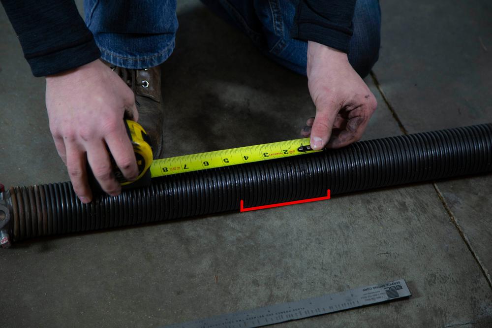 Garage Door Torsion Spring Measurement How To Measure Garage Door