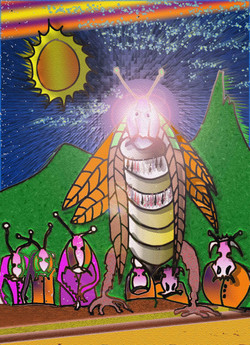 animals--bugs-gather