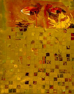 golden squares on paper #4