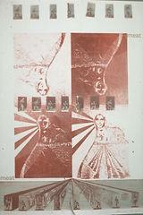 meat - lithograph, aleks rosenbeg