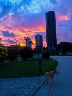Hundley and Red sky
