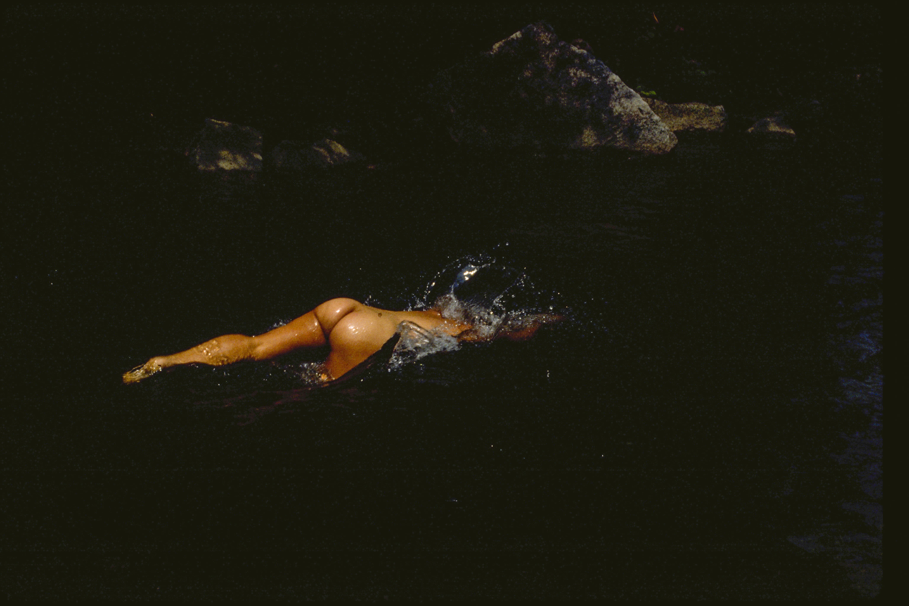 nude- diving in water