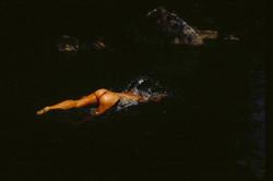 nude- diving in water