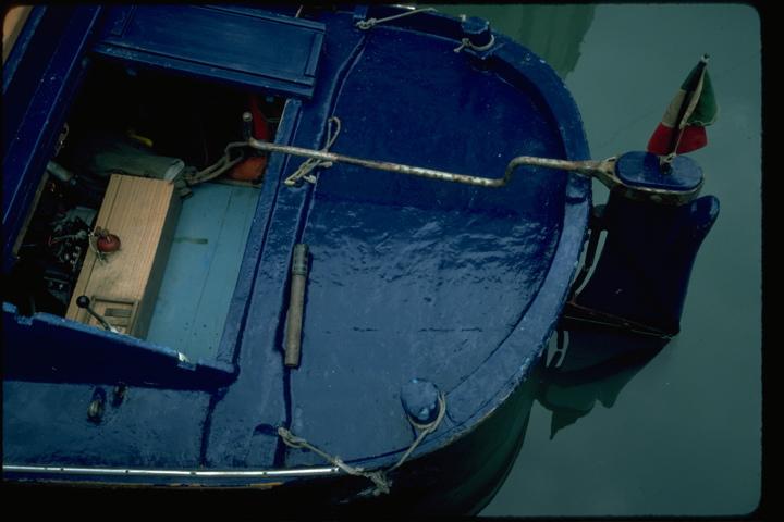 Venice-blue boat