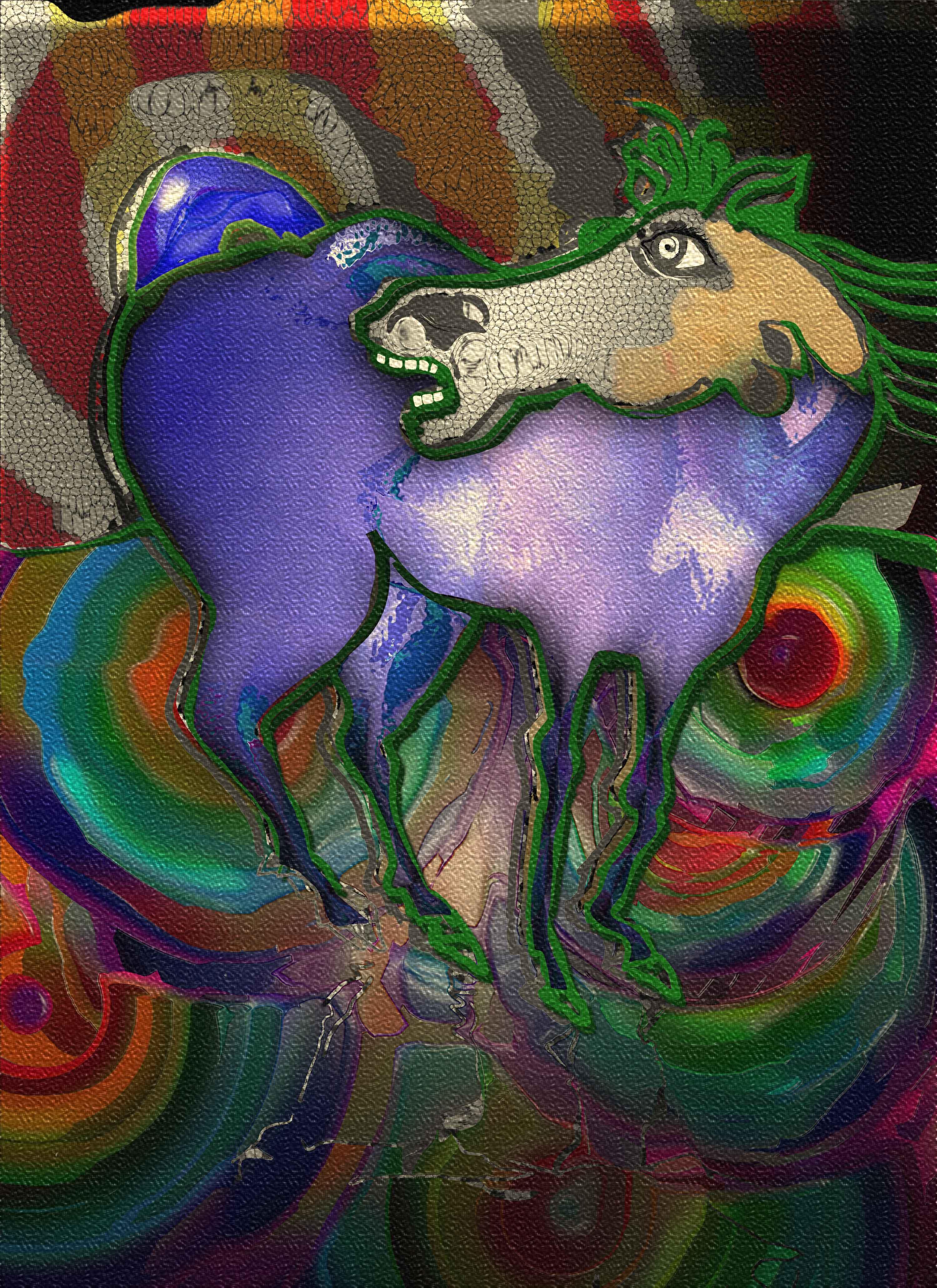 animals-green-horse-1