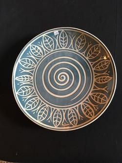 Leaf design platter