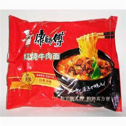 康师傅红烧牛肉面5包