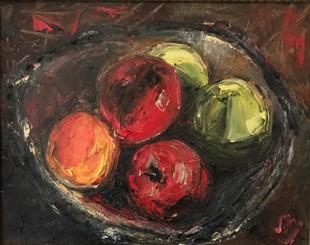 Fruit in Wooden Bowl