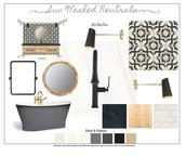 Sun Washed Neutral Design Board and temp