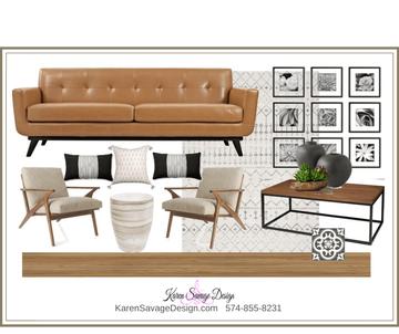 Contemporary Neutral Living Room Design Map #10 Karen Savage Design