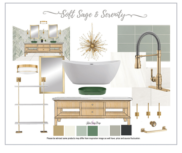 soft sage & serenity design board by kar