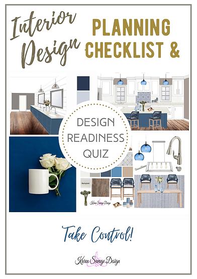 Design Readiness Quiz or Planning Checkl