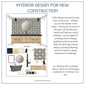Interior Design for New Construction