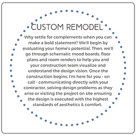 Custom Remodel Why Settle for Compliment
