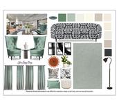 Sage Green shopping board living room 1.