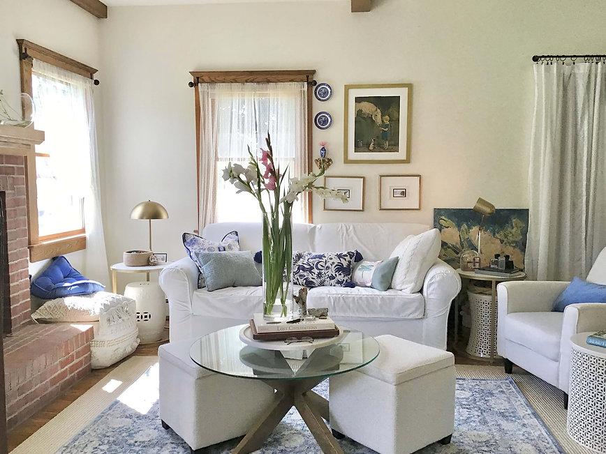 Karen Savage Design Blue and white farmh