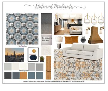 Statement Modernity Design Board and tem