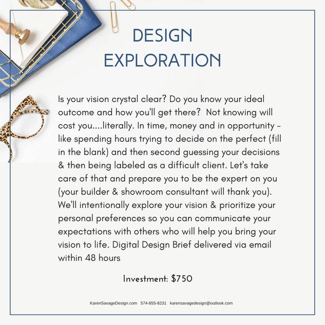 Interior Design Exploration & Pre-Design