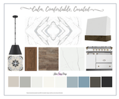 calm comfortable curated design board by
