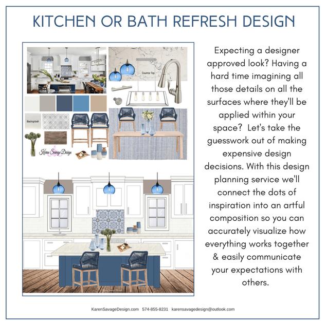 Kitchen & Bath Refresh Design Plan