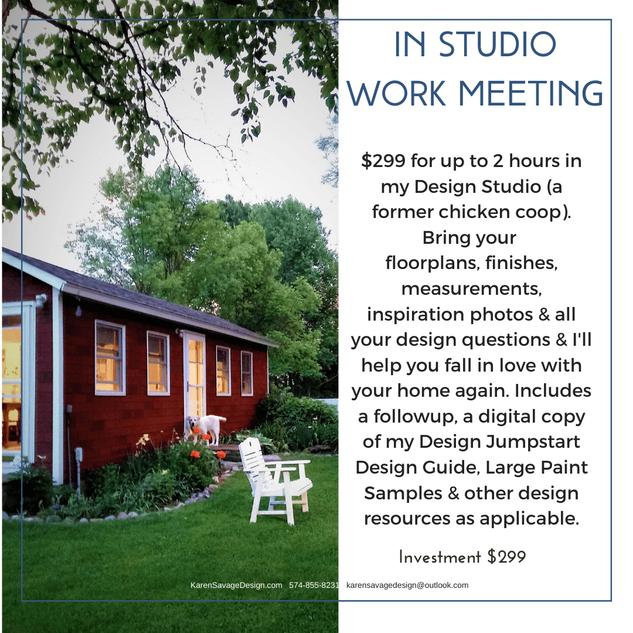 In Studio Interior Design Work Meeting