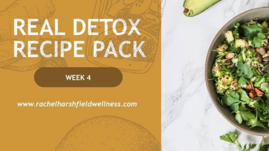 REAL DETOX RECIPE PACK ( ALL 4 WEEKS)