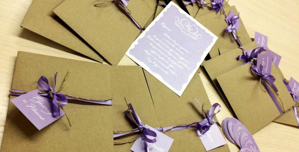 Приглашения в крафт конверте