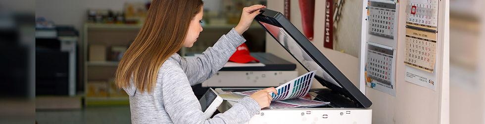Процесс печати в типографии фото