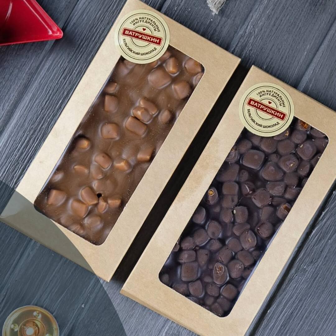 Стикер-этикетка на шоколад ручной работы