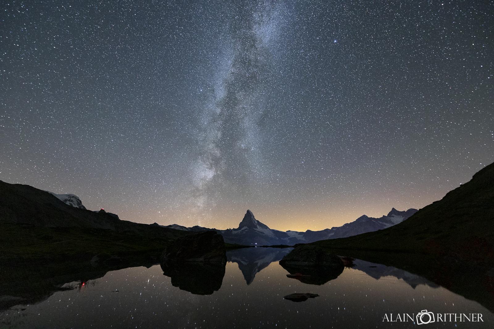 Lac Stellisee de nuit