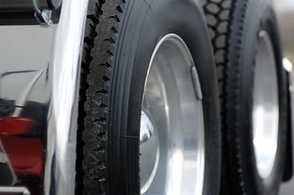 Tyre fitting to a truck