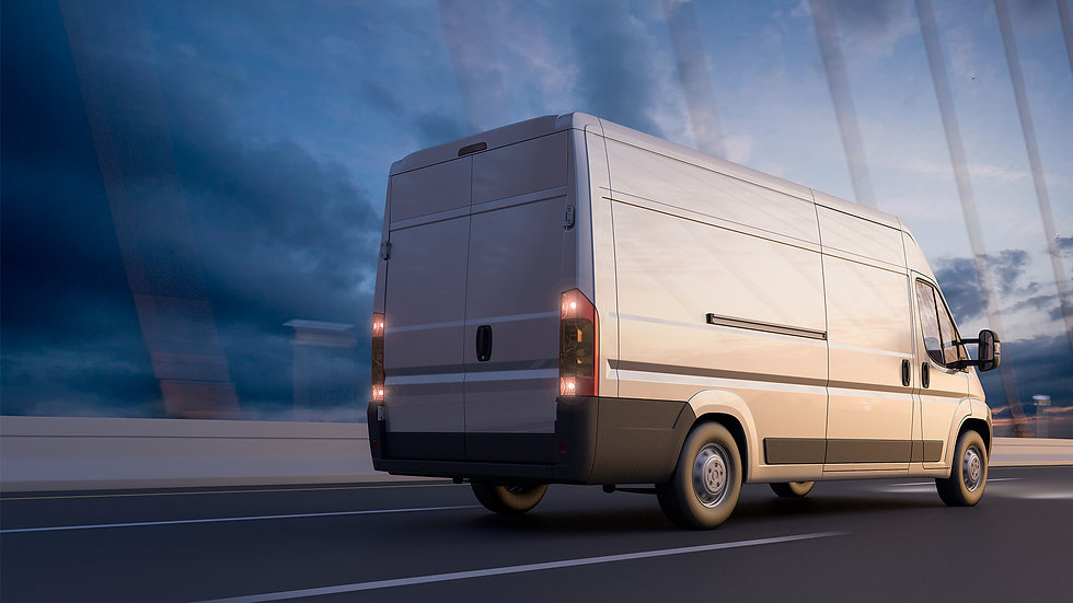 Commercial Van With New Tyres
