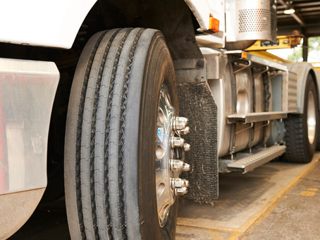 Why do some truck tyres stick out?