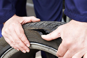 Delivery truck tyre repair