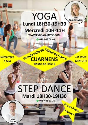 New! Yoga & Step Dance Classes