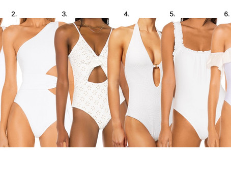 White One Pieces for Her
