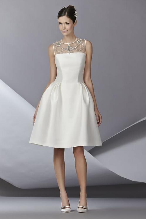 Carolina Herrera Fall 2014 Short Embellished Dress
