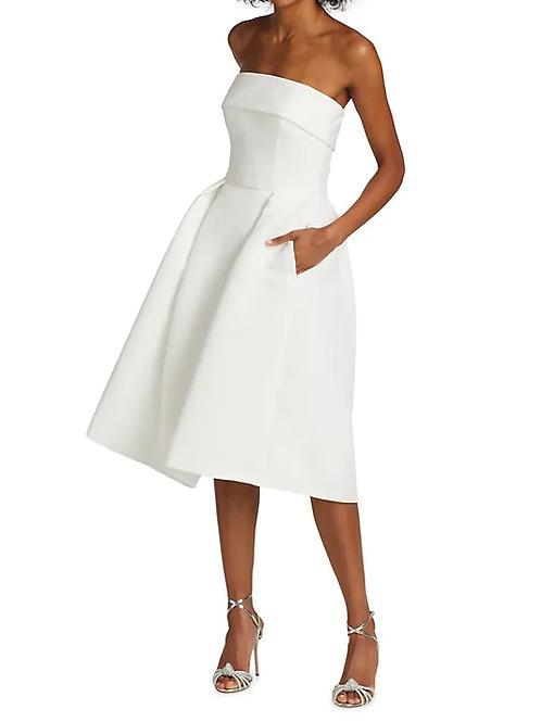 Amsale Strapless Fit & Flare Dress