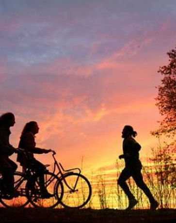 sunset cycling and jogging.JPG