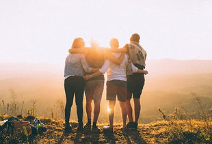 Pexels Group of Friends watching sunset.