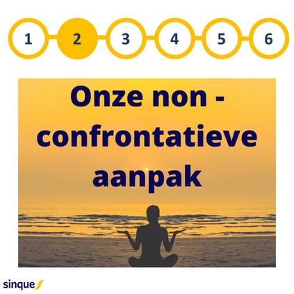 Onze non-confrontatieve aanpak