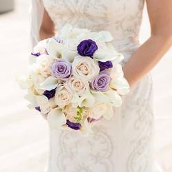 Bridal bouquet in tones of ivory, lavender and purple #bride #decorgalore #wedding ##weddings #weddi