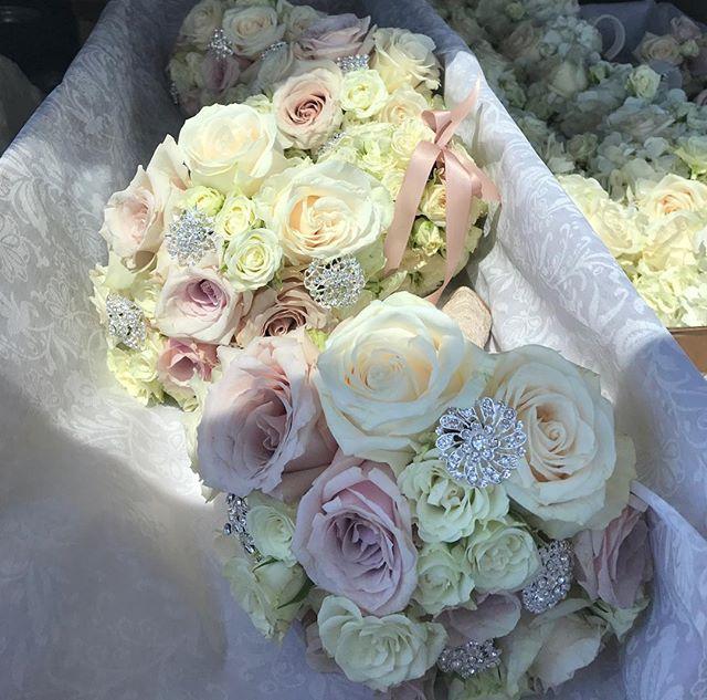 Bridesmaids, vintage color palette, touch of bling. 🤗