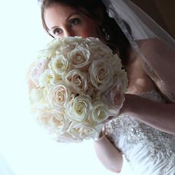 Daniela's lush bouquet of roses  #wed #wedding #weddings #weddingflorist #weddingflowers #njwedding