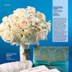 Decor Galore in the press - featured in (201) Bride Magazine Summer 2014 issue #bride #bridalbouquet