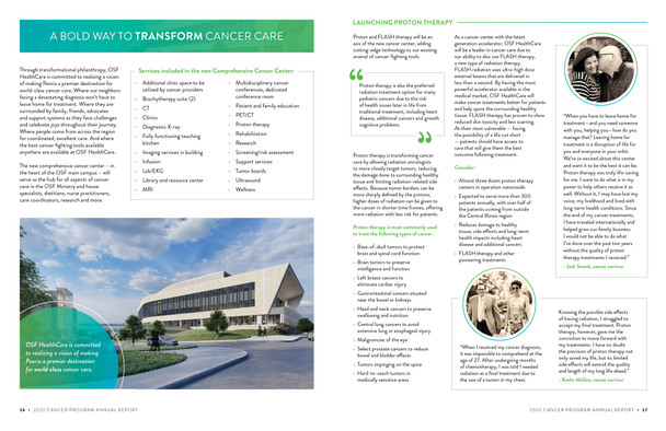 Cancer Center Introduction Spread