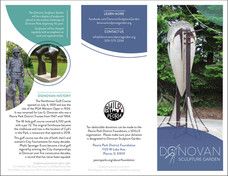 Event Brochure (front, back and folded panels)